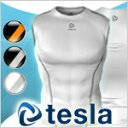 [TESLA] High-performance underwear round neckline padded vest
