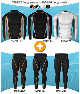 High-performance underwear high neck long sleeve 2 piece set (top and bottom set or on two cards)