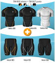 [TESLA] High-performance underwear round neckline short sleeves (in top and bottom set or two pieces)