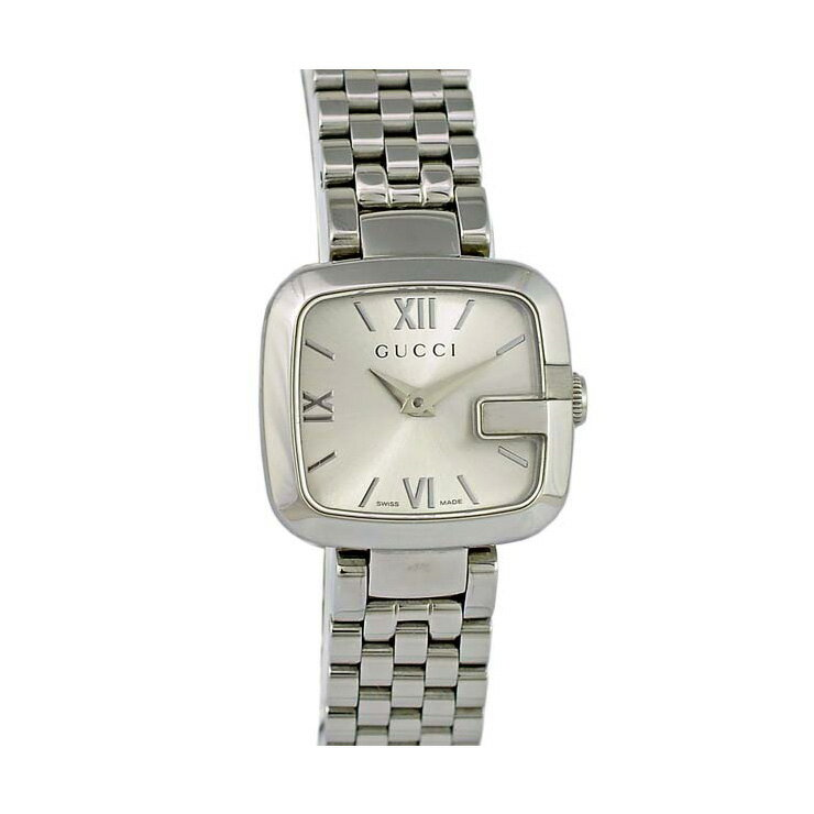 GUCCI/グッチ/Gグッチ/レディース腕時計/125.5/YA125411/文字盤メタリックシルバー クオーツ 【】【送料無料】 [送料無料][]女性用 ブランド 時計 銀色 「G」モチーフの文字盤が印象的なレディース腕時計です。【すっぱい】