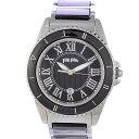 フォリフォリ レディース腕時計 WF6T069BD Folli Follie 文字盤黒 クオーツ SS 【中古】【送料無料】
