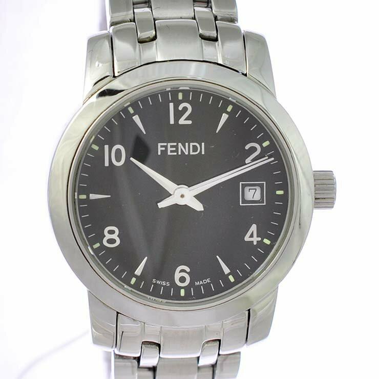 フェンディ レディース腕時計 クラシコ 2100L FENDI 文字盤黒 クオーツ SS 【】【送料無料】 【送料無料】【】時計 ブランド 女性 ブラック 飽きのこないクラシカルなデザインが魅力的なフェンディの腕時計です。