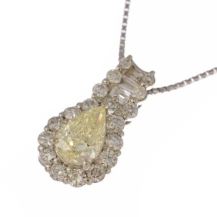 ペンダント プラチナ900 850 ダイヤモンド 雫 Pt900 Pt850 ジュエリー レディース 【】【送料無料】【美品】 【送料無料】【】【美品】ペアシェイプ ラウンド ジュエリー プレゼント ご褒美 ゴージャスな輝きが印象的なダイヤモンドペンダントです。