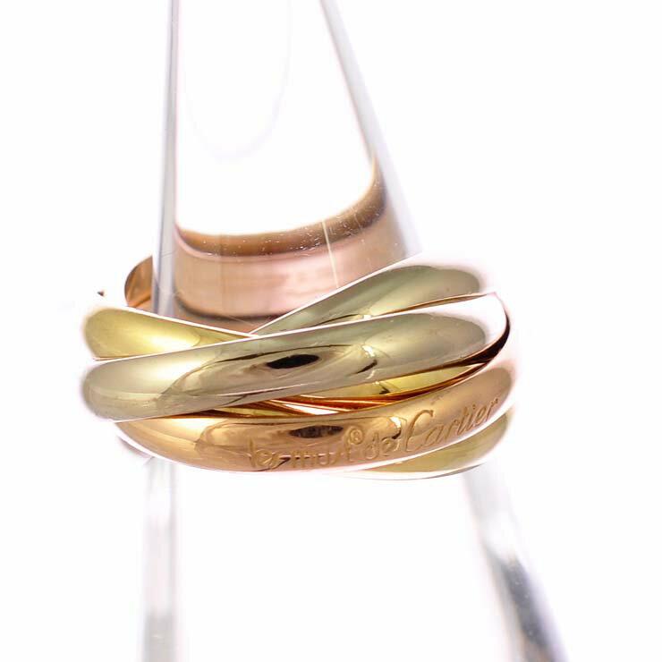 カルティエ トリニティリング K18イエローゴールド ピンクゴールド ホワイトゴールド Cartier 5連 スリーカラー K18YG K18PG K18WG サイズ:10.5号 レディース 【】【送料無料】 【送料無料】【】ブランド 指輪 ブランドジュエリー 人気 女性 可愛い 贈り物にも最適なカルティエのトリニティリングです。