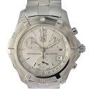 タグホイヤー 腕時計 エクスクルーシブ クロノ SS メンズ CN1111 TAG HEUER 文字盤シルバー クオーツ 【美品】【中古】【送料無料】