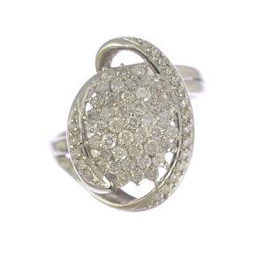【中古】リング レディース プラチナ900 ダイヤモンド
