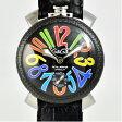ガガミラノ/GAGA MILANO/メンズ腕時計/マヌアーレ/48ミリマルチカーボン手巻き時計/黒 5015 [中古][送料無料]