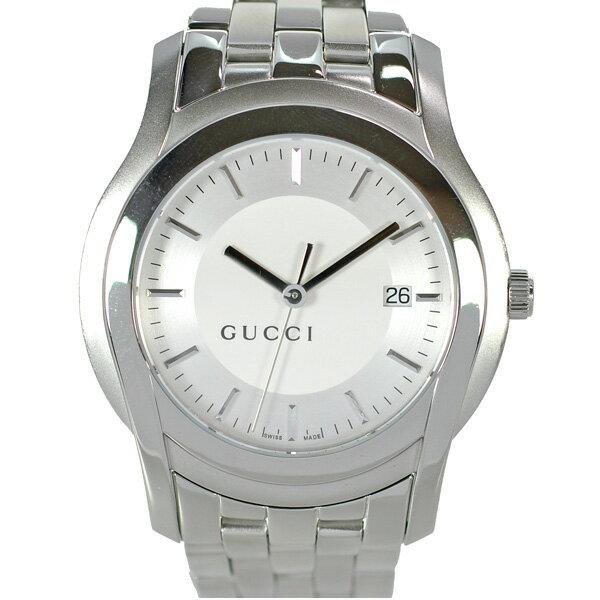 GUCCI グッチ メンズ腕時計 5500XL クオーツ SS 文字盤シルバー 箱付き【】【送料無料】 [SALE][][送料無料][時計][メンズア][QZ]