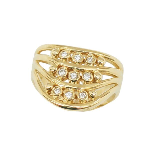 【スーパーSALE】リング/指輪/ダイヤモンド/0.10ct/K18/13号【】【送料無料】 【送料無料】【】【ジュエリー】【リング】【指輪】【ダイヤモンド】【K18】13号