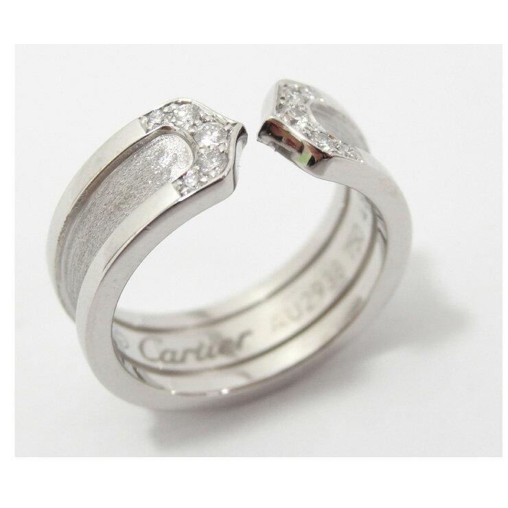 Cartier/カルティエ/K18WG/C2ダイヤリング/B402240/#48/6.7g/レディース 【】【送料無料】 [ブランドジュエリー][ホワイトゴールド][宝石][女性用][美品][PL済][箱付]