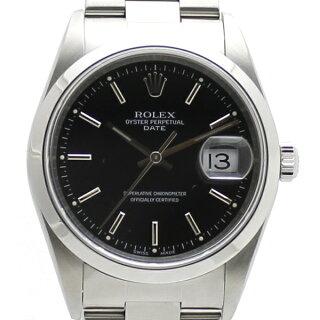 ROLEX/ロレックス/オイスターパーペチュアルデイト/SS/15200/メンズ腕時計/自動巻き/ブラック文字盤【中古】【送料無料】