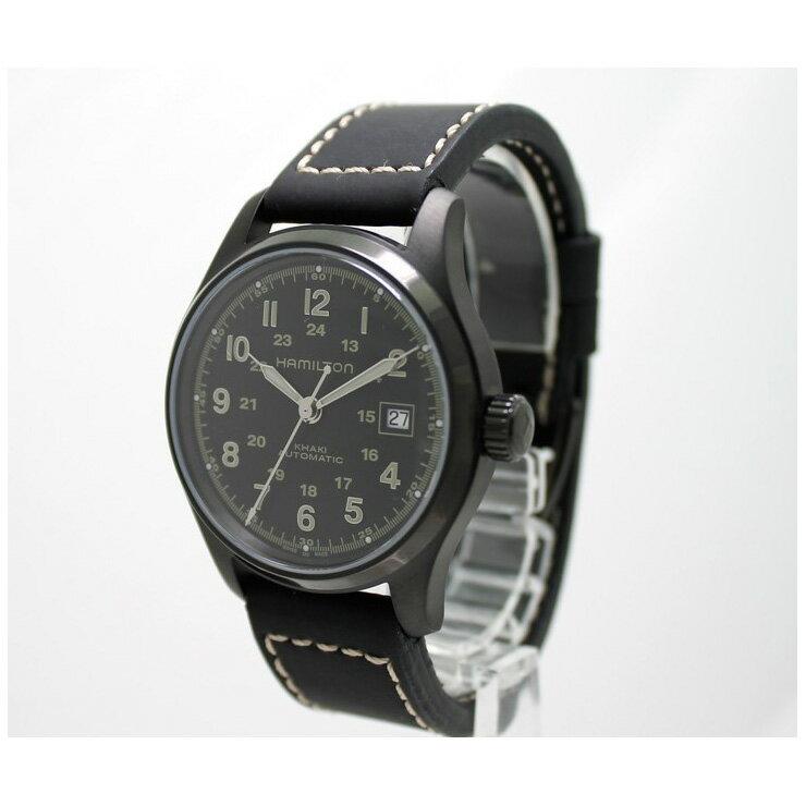 HAMILTON ハミルトン カーキフィールド オート SS メンズ腕時計 H70585733 自動巻き[][送料無料] [][送料無料][ブランド][男性][オートマ][日常生活防水][ブラック]レザー ステンレス バックスケルトン サファイアガラス