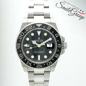 ロレックス 腕時計 GMTマスターII 116710LN ROLEX G番 SS メンズ 自動巻き ブラック文字盤【中古】【送料無料】