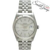 ロレックス 腕時計 デイトジャスト 16234 ROLEX X番 SS×K18 メンズ 自動巻き シルバー文字盤【中古】【送料無料】