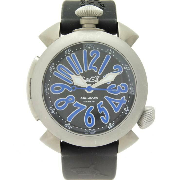 ガガミラノ メンズ腕時計 ダイビング 48mm 5040.4 GaGaMILANO チタン×ラバー 自動巻き ブラック文字盤【】【送料無料】 【】【送料無料】ブランド ウォッチ 男性 オートマ 300m防水
