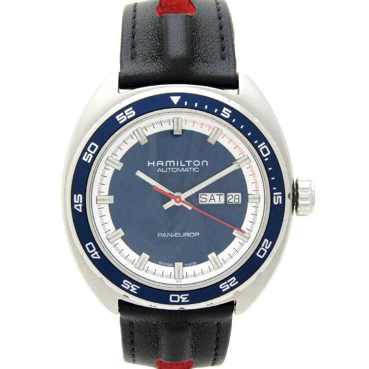 ハミルトン メンズ腕時計 パンユーロ H35405741 HAMILTON SS 自動巻き ブルー文字盤【】【送料無料】 【】【送料無料】ブランド ウォッチ 男性 オートマ ステンレス