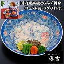<ふぐ・フグ>【送料無料】国内産高級とらふぐの刺身2皿セット...