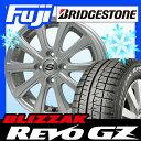 【送料無料】 BRIDGESTONE ブリヂストン ブリザック REVO GZ 155/65R14 14インチ スタッドレスタイヤ ホイール4本セット BRANDLE ブランドル ZN-10 4.5J 4.50-14