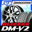 【送料無料】 BRIDGESTONE ブリヂストン ブリザック DM-V2 285/60R18 18インチ スタッドレスタイヤ ホイール4本セット LEHRMEISTER レアマイスター ロードスポーク WR 8.5J 8.50-18 タイヤはフジ fuji タイヤ