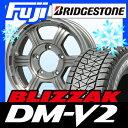【送料無料 ジムニー】 BRIDGESTONE ブリヂストン ブリザック DM-V2 175/80R16 16インチ スタッドレスタイヤ ホイール4本セット PREMIX プレミックス ファング 5.5J 5.50-16