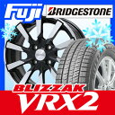 【送料無料 VW(UP!)】 BRIDGESTONE ブリヂストン ブリザック VRX2 185/55R15 15インチ スタッドレスタイヤ ホイール4本セット 輸入車 EUROTECH ユーロテック ガヤ10(ブラックポリッシュ) 5.5J 5.50-15