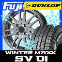 【送料無料】 DUNLOP ダンロップ ウィンターMAXX SV01 6PR 165/80R13 13インチ スタッドレスタイヤ ホイール4本セット BRANDLE ブランドル G72 5J 5.00-13