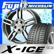 【送料無料 VW(ゴルフ)】 MICHELIN ミシュラン X-ICE XI3 225/40R18 18インチ スタッドレスタイヤ ホイール4本セット 輸入車 SPORT TECHNIC スポーツテクニック MONO 5ヴィジョン 7.5J 7.50-18