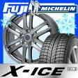 【送料無料】 MICHELIN ミシュラン X-ICE XI3 205/60R16 16インチ スタッドレスタイヤ ホイール4本セット BRANDLE ブランドル G61 6J 6.00-16