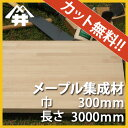 【カット無料!】自作スピーカーやスピーカースタンドに人気の木材。メープル集成材 サイズ:厚み20mm