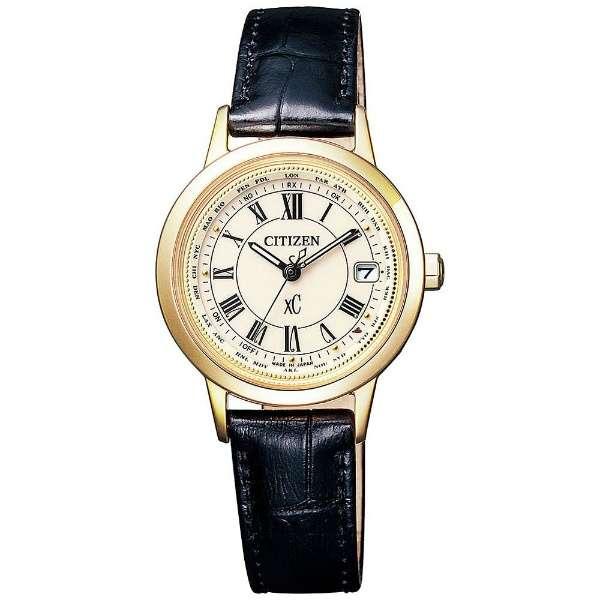 CITIZENシチズン腕時計 XCクロスシーティタニア ライン ハッピーフライトモデル ソーラー電波時計EC1142-05B