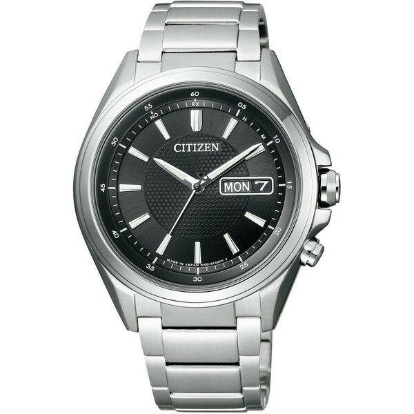 CITIZEN シチズン腕時計 ソーラー電波時計 アテッサAT6040-58E 【従来の】