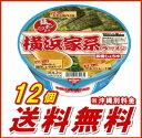 【送料無料】麺ニッポン 横浜家系ラーメン 1ケース(12個入) 【日清食品】【smtb-KD】