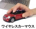 【送料無料】車型マウス ワイヤレスカーマウス ミニクーパーS レッド 赤 ユニオンジャックルーフ LANDMICE 2.4G MINI COOPER S RED...