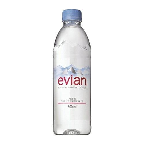 エビアン 500mlペットボトル 1本 95円【 water ミネラルウォーター 】