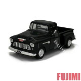 1955 CHEVY 5100 STEPSIDE blk 1/24 MOTOR MAX 3300【シボレー ピックアップ アメ車 トラック クラシック ミニカー 1955 黒】