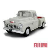 1955 CHEVY 5100 STEPSIDE wht 1/24 MOTOR MAX 3300【シボレー ピックアップ アメ車 トラック クラシック ミニカー 1955 白】