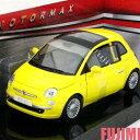 FIAT - FIAT NUOVA 500 yel 1/24 MOTOR MAX 3612円【 フィアット チンク ミニカー 黄 ダイキャストカー ミニ 】【コンビニ受取対応商品】
