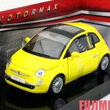 FIAT NUOVA 500 yel 1/24 MOTOR MAX 3612【 フィアット チンク ミニカー 黄 ダイキャストカー ミニ 】