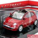 FIAT NUOVA 500 CABRIO red 1/24 MOTOR MAX 3612円【 フィアット チンク カブリオレ ミニカー 赤 ダイキャストカー ソフトトップ 】