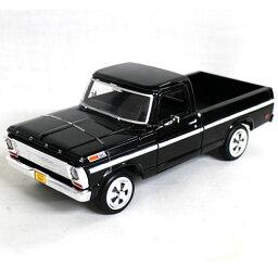 1969 FORD F-100 PICKUP MOTOR MAX 1/24 blk 3612円 【ダイキャストカー フォード アメ車 ピックアップ トラック アメトラ 黒 ミニカー】【コンビニ受取対応商品】