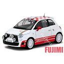 FIAT ABARTH 500 R3T wht 1/24 MOTOR MAX 3700円【ミニカー フィアット 白 アバルト ダイキャストカー DIE-CAST チンク 】
