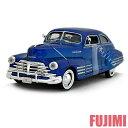 1948 CHEVY AEROSEDAN FLEETLINE blu 1/24 MOTOR MAX 3300円【シボレー,フリートライン,青,ミニカー,クラシック アメ車,1948】