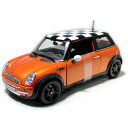 Mini Cooper SunRoof 1/18 Orange MAISTO 4455円 【 ダイキャストカー ミニクーパー イギリス オレンジ ミニカー マイスト チェッカー ..