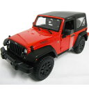 2014 Jeep Wrangler Red 1/18 Maisto 2686円 【 ジープ ラングラー 赤 レッド マイスト ダイキャストカー ミニカー オフロード SUV 】