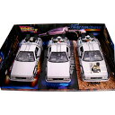 Delorean TIME MACHINE Back To The Future Trilogy Pack 1/24 Welly 9259円【 バック トゥ ザ フューチャー ミニカー セット デロリア..