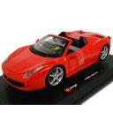 Ferrari 458 spider red 1/24 Bburago 4167円【フェラーリ,エンツォ フェラーリ スパイダー オープン 赤 レッド,ブラーゴ...