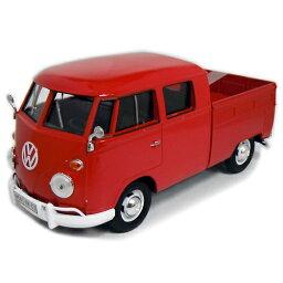 VOLKSWAGEN TYPE 2 (T1) Pick Up rd 1/24 Motor Max 2686円 【 フォルクス ワーゲン VW クラッシック バス ピックアップ トラック 赤 ダイキャストカー モーターマックス ミニカー タイプ2 】【コンビニ受取対応商品】
