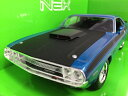 1970 Dodge Challenger T/A bl 1/24 Welly 3612円 【 ダッジ チャレンジャー ミニカー マッスルカー モパー ウェリー ダイキャストカー アメ車 】【コンビニ受取対応商品】