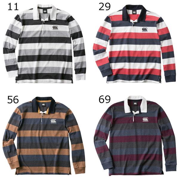 【あす楽対応】カンタベリー メンズ ラグビー L/S ラガーシャツ L/S RUGGER SHIRT RA48590