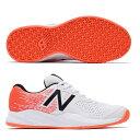 【あす楽対応】 newbalance ニューバランス テニスシューズ メンズ MC606WO3 2E WHITE/ORANGEカラー オムニ/クレーコート用